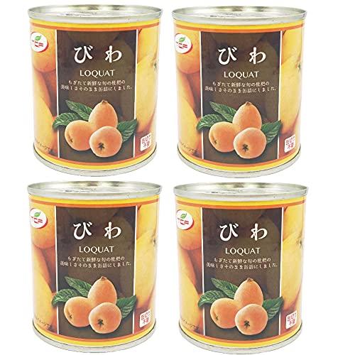 びわ缶詰 300g×4缶 ビワ シロップ漬け 枇杷 まとめ買い 業務用 缶詰め かんづめ フルーツ