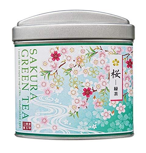三國屋善五郎 桜-緑茶 ティーバッグ 2g×8p(大缶) お茶 日本茶 緑茶 煎茶 季節限定 さくら ギフト プレゼント 贈り物