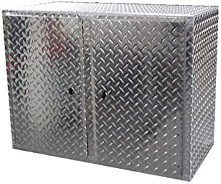 Pit Posse Overhead Diamond Plate Wall Cabinet-SILV - coolthings.us