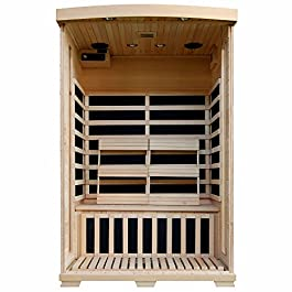 Radiant Saunas 2-Person Hemlock Infrared Sauna with 6 Carbon...