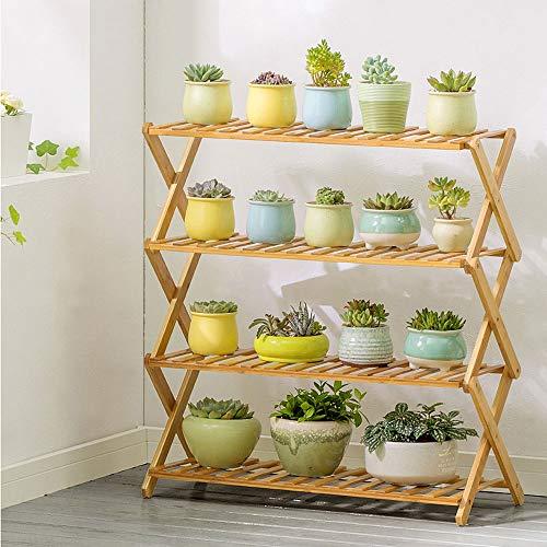 Ping Bu Qing Yun Support de fleurs, présentoir pliant de grande capacité for installation de portemanteaux multicouches, installation gratuite, convient à: salon / balcon / extérieur / jardin, 2-5 cou