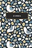Zambia: Cuaderno de diario de viaje gobernado o diario de viaje: bolsillo de viaje forrado para hombres y mujeres con líneas