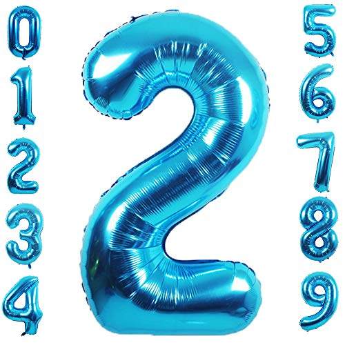 PartyMart Blue Foil Balloons Number 2, 40 inch
