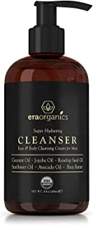 Organic Men's Face & Body Wash – Premium Moisturizing Cleanser For Dry, Sensitive Skin, Oily Acne Prone Skin With Jojoba, Avocado, Rosehip & More Fight Acne, Wrinkles & Premature Aging Era-Organics