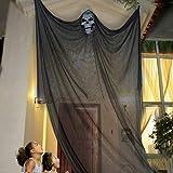 elfisheu Halloween deko Gespenst Geist Gruselig Hängend Türvorhang für Halloween Tür Deko...