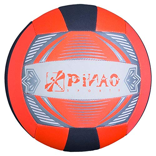 PiNAO Sports - Neopren-Volleyball, Größe 5, Neon-Orange (31031) [Volleyball, Beachvolleyball, Strand, Beach]