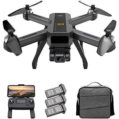 Drone GPS para adultos, 5G WiFi FPV Drone con cámara 4K, cuadricóptero RC de posicionamiento de flujo óptico con motor sin escobillas, estabilización electrónica de imagen, Sígueme,3 batteries