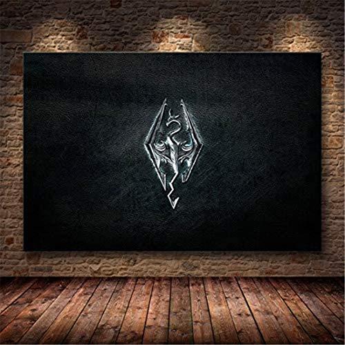 Refosian Skyrim The Elder Scrolls Spiel Poster und Drucke Wanddekorative Leinwand Malerei für Wohnzimmer Home Decor 40X50Cm -Y1621