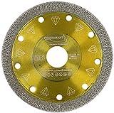 PRODIAMANT Disco de corte de diamante profesional para azulejos y gres porcelánico, 115 x 22,23 mm, disco de diamante DoubleDiamond de 115 mm