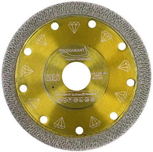 PRODIAMANT Profi Diamant-Trennscheibe für Fliese und Feinsteinzeug 115 mm x 22,23 mm DoubleDiamond Fliesenscheibe