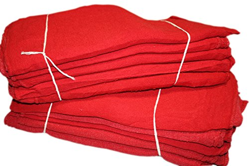 Pro's Choice Red Auto Mechanic Rags (Pack of 1000), Shop Towels (13 x 13 Inches) - 100% Cotton, Commercial Grade Wipers - Home, Garage, Auto Body Shop, Wiping Cleaning Oil Spills, Machinery, Tools