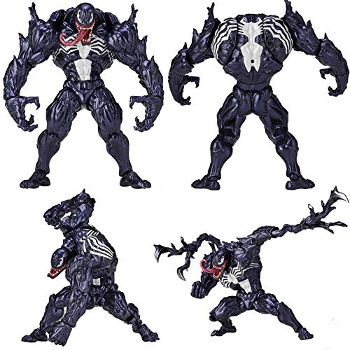 duhe189014 Frei geformte Venom Figur Ornamente Spielzeug Mit Ständer, Venom Eddie Brock Serie Nr. 003, Spielzeugdekoration Für Kinder Spiele Dekoration und Modellsammler