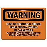 Señal de advertencia de riesgo de choque eléctrico de energía señal privada de advertencia de metal para el hogar al aire libre Señal de precaución para decoración de habitación garaje 20 x 30 cm