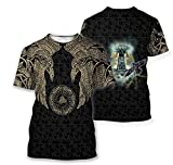 Viking Munin - Tattoo Style Hoodie Version 2.0 T'shirt Unisex 3D Print Design Long Sleeves Women