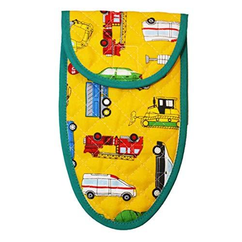 子供用はさみケース(イエロー×働く車柄) 入園 入学 幼稚園 保育園 小学校