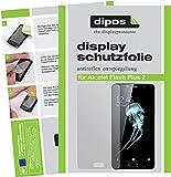 dipos I 2X Schutzfolie matt kompatibel mit Alcatel Shine Lite Folie Bildschirmschutzfolie