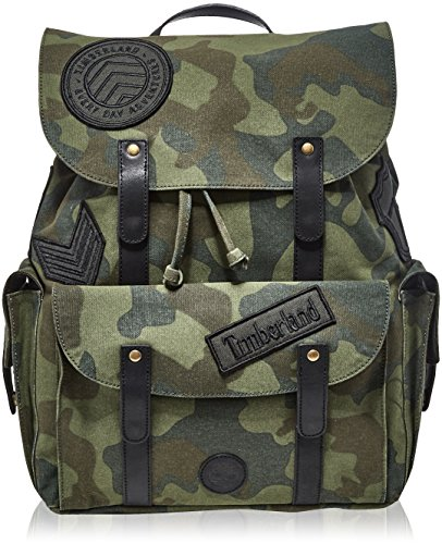 Timberland Backpack, Mochilas Unisex adulto, Verde (Green Camo), 22x30x27.5 cm (W x H L)