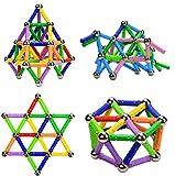 Morkka Bastoncini magnetici, Bastoncini magnetici e Sfere 136PCS, Bastoncini magnetici da Costruzione, Giocattoli magnetici da Costruzione, Bastoncini magnetici Bastoncini educativi per Bambini