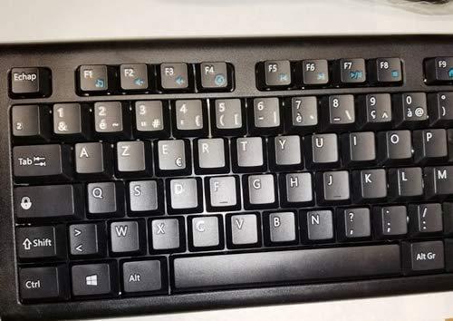 French European Language Keyboard (Black) (USB) (Windows)
