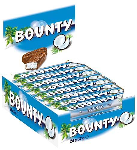 Bounty Schokoriegel | Kokos, Duo | 24 Riegel in einer Box (24 x 75 g)