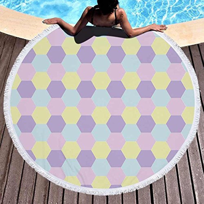 GSYAZTT Round Beachcoat Soft Microfiber Bath Sport Towels Bathtub 150 cm Beach Toalla Picnic Blanket Napkin The Plague