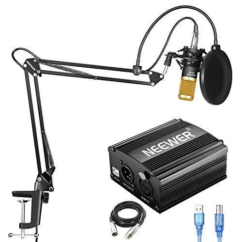 Neewer NW-800 Kit de Micrófono de Condensador con Fuente de Alimentación...