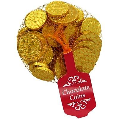 steenland gold net of milk chocolate coins 100 g Steenland Gold Net of Milk Chocolate Coins 100 g 51JVydEatyL
