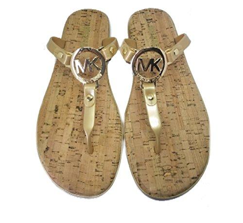 MICHAEL Michael Kors MK Charm Jelly Thong Sandal,Black,7 M US