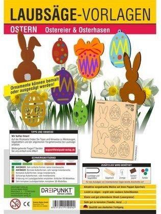 Laubsägevorlagen Ostern: Ostereier und Osterhasen