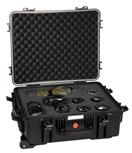 Vanguard Supreme: Maletín resistente para cámara réflex  negro  53F  con ruedas