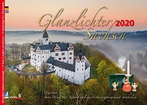 Glanzlichter Sachsen 2020: mit Texten + Wandertipps für`s Wochenende + Gewinnspiel + Postkartenserie