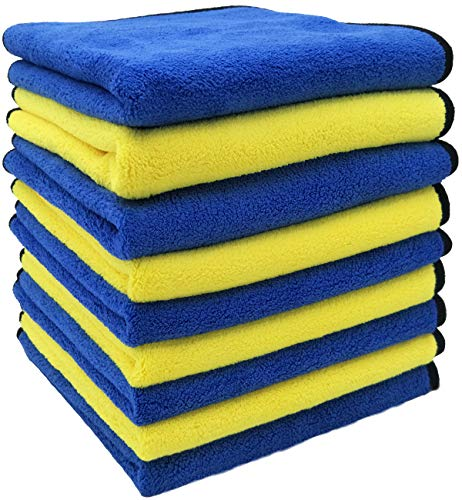IGEturbo Car Drying Towel 9 Pack Premium Microfiber Towels for Cars Professional Soft Microfiber Cloths Lint Free Strong Absorption Car wash Towel 16in x 16in