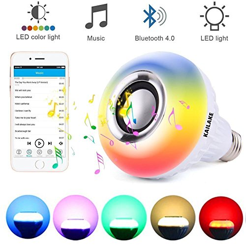 KAILAKE, E27 led Light Bulb with Bluetooth RGB Changing...