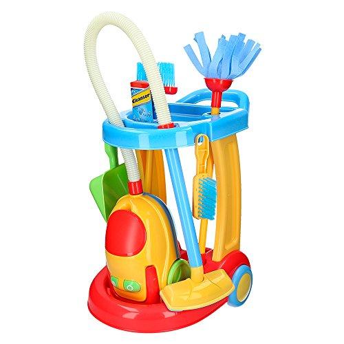 PlayGo 44588 - Carrello di Pulizia con aspirapolvere Elettrico CBtoys