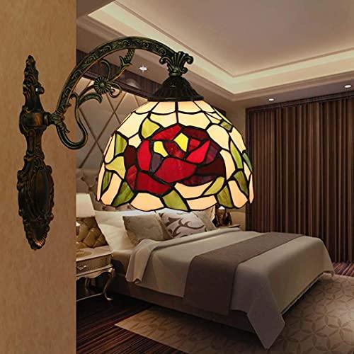 DALUXE Apliques de Estilo Tiffany, Aplique de Estilo Tiffany de 8 Pulgadas apliquen una Cabeza, lámpara de Noche, lámpara de Pasillo, lámpara de Escalera, luz del Pasillo