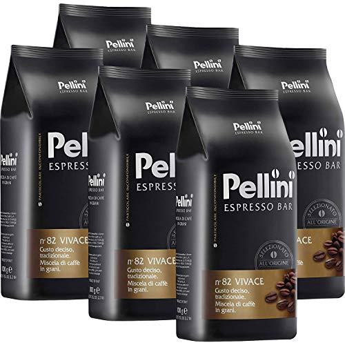 Pellini Espresso Bar N° 82 Vivace 6 x 1kg Kaffee ganze Bohne