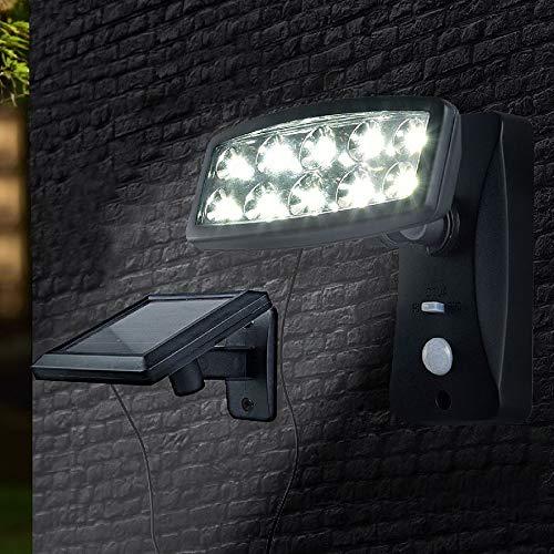 Unbekannt LED Solar-Strahler con Sensor de Movimiento Aplique de Pared Luz Exterior Lámpara de Jardín