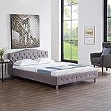 CARO-Möbel Polsterbett Biarritz Einzelbett Doppelbett Jugendbett Barockstil 140 x 200 cm mit Lattenrahmen - 2