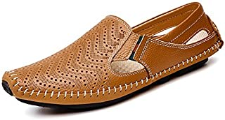 Men's Driving Shoes Leather Fashion Slipper Casual Slip on Loafers Shoes in Summer