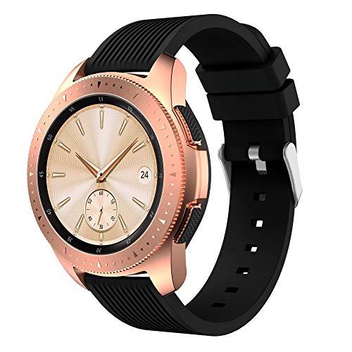 Supore Galaxy Watch 42 mm Armband, 20 mm Ersatz Uhrenarmband aus weichem Silikon Sportarmband mit Schnellverschluss für Gear S2 Classic/Gear Sport Smartwatch