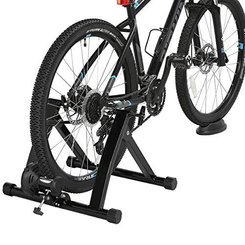 Yaheetech Rullo Allenamento Bici Allenatore Bici Pieghevole Magnetico per Bici da 26 a 28 Pollici e da 700C