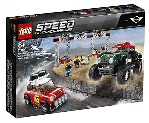 LEGO SpeedChampions 1967MiniCooperSRallye2018MiniJohnCooperWorksBuggy Giocattolo, Modelli di Auto da Collezione, 75894