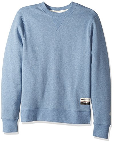 Champion Men's Authentic Originals Sueded Fleece Sweatshirt, Blue Jazz Heather, Large