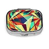 Tasca portapillole quadrata alla moda Scatola per medicinali Tasca o borsa per sacca per medicine facile da usare Borsa arcobaleno rotta