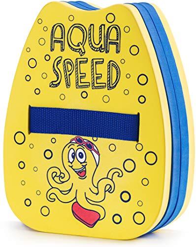 Aqua Speed Schwimmhilfe für den Rücken Kinder 2-6 Jahre | Schwimmrucksack Mädchen & Jungen | Schwimmen Lernen | Octopus Gelb - Blau | Kiddie