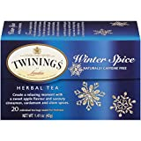 Twinings of London Winter Spice Herbal Tea Bags, 20 Count (Pack of 6)