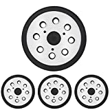 Tanzfrosch 4 Pack 5 inch 8 Hole Replacement Sander Pads 5' Hook and Loop Orbital Sanding Backing Plates for DeWalt 151281-08 RSP26 Compatible with DeWalt, Makita, Porter Cable, Black & Decker Tools