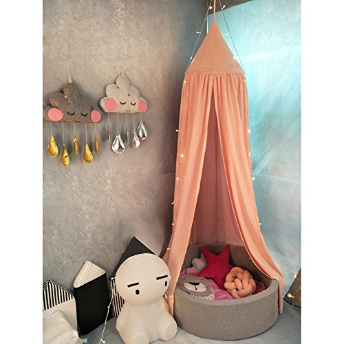 litty089 Muggennetten 240 cm Baby Kamer Decor Bed Gordijn Ronde wieg Netting Tent Hang Koepel Muggennetje