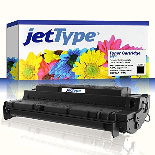 jetType Toner ersetzt HP C3903A / 03A für LaserJet 5 MP / 5 P / 6 MP / 6 P, schwarz, 4.000 Seiten