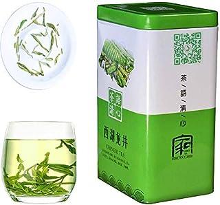 JQ Téde dragón Xihu Dragon Well Green Tea (西湖龙井)Auténtico origen de Hangzhou - Hoja suelta de Longjing del lago del oeste - (Segundo grado - 150 g) Natural Nada Agregar